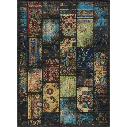 Vintage Power Loomed Wool Rug